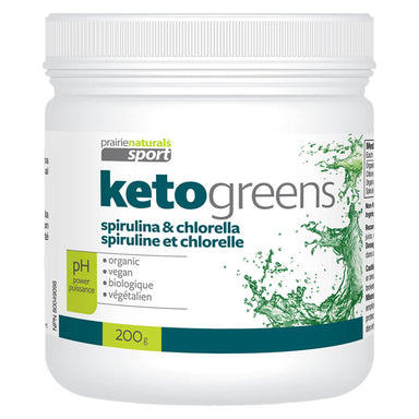 Bottle of Prairie Naturals Keto Greens 200 Grams