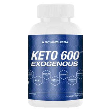 Bottle of Keto 600 Exogenous 75 Vegan Capsules