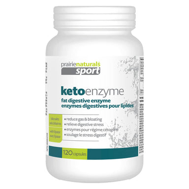 Bottle of Keto Enzyme 120 Vegetable Capsules
