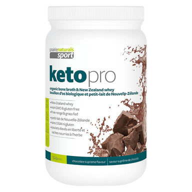 Container of Keto Pro Protein Chocolate Flavour 483 Grams