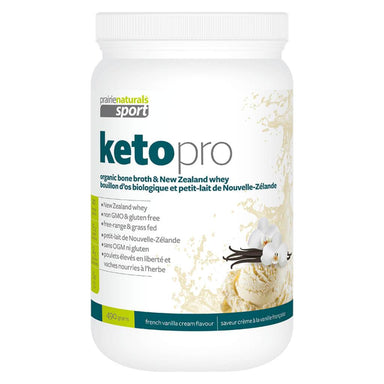 Container of Keto Pro Protein Vanilla Flavour 490 Grams