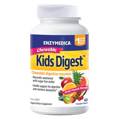 Bottle of Enzymedica Kids Digest Chewable Digestive Enzymes 60 Chewable Tablets
