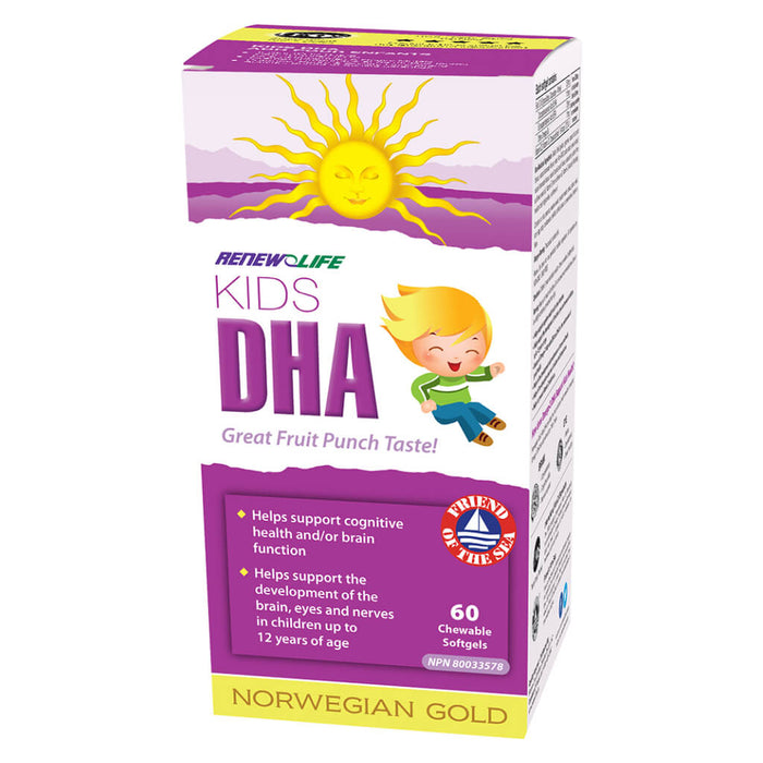 Box of Norwegian Gold Kids DHA 60 Chewables
