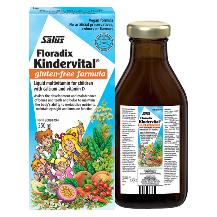 Bottle & Box of Kindervital® Multivitamin 250 Milliliters