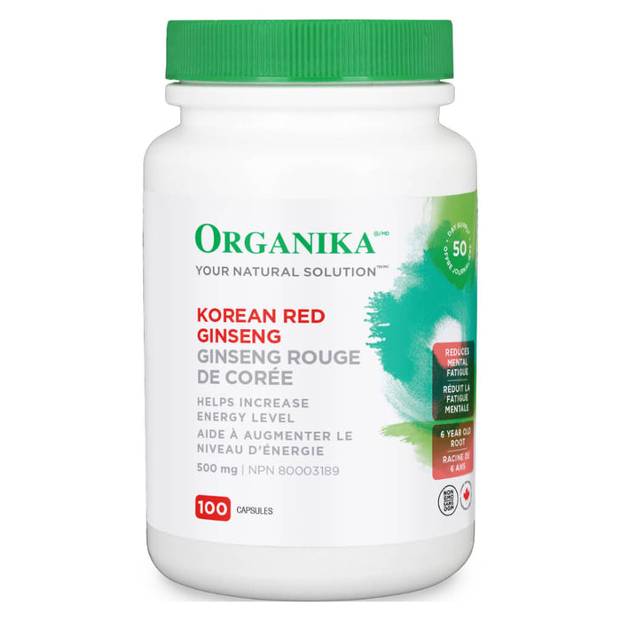 Bottle of Korean Red Ginseng 100 Capsules