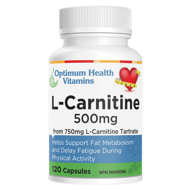 Bottle of L-Carnitine 500 mg 120 Capsules