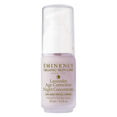 Pump Bottle of Eminence Lavender Age Corrective Night Concentrate 35 Milliliters