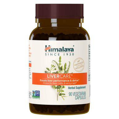 Bottle of LiverCare 90 Vegetarian Capsules