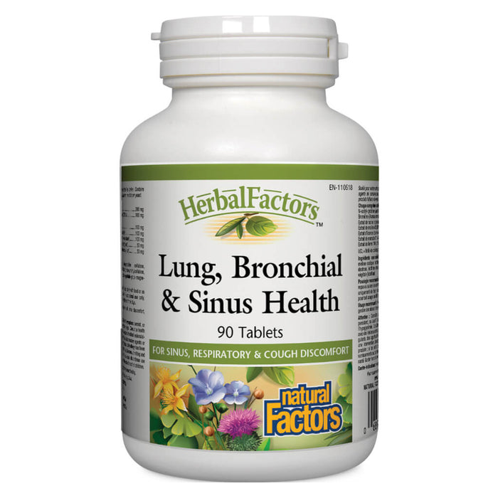 Bottle of Lung, Brochial & Sinus Health 90 Tablets