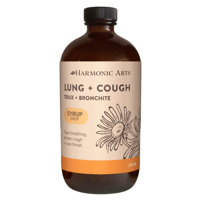 Harmonic Arts - Lung & Cough Syrup 250 Milliliters | Optimum Health Vitamins, Canada