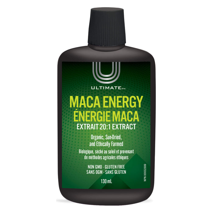 Bottle of Ultimate Maca Energy 20:1 Extract 130 Milliliters