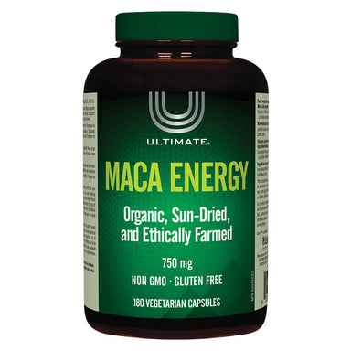 Bottle of Maca Energy 750 mg 180 Vegetarian Capsules