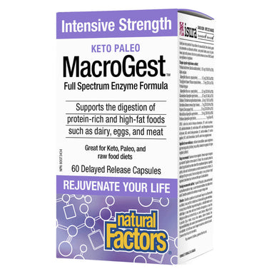 Box of Keto Paleo MacroGest Intensive Strength 60 Delayed-Release Capsules