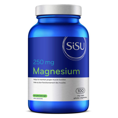 Bottle of Sisu Magnesium 250 Milligrams 100 Vegetarian Capules