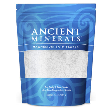 Ancient Minerals - Magnesium Bath Flakes For Body & Foot Soaks 1.65 Pounds 750 Grams | Optimum Health Vitamins, Canada