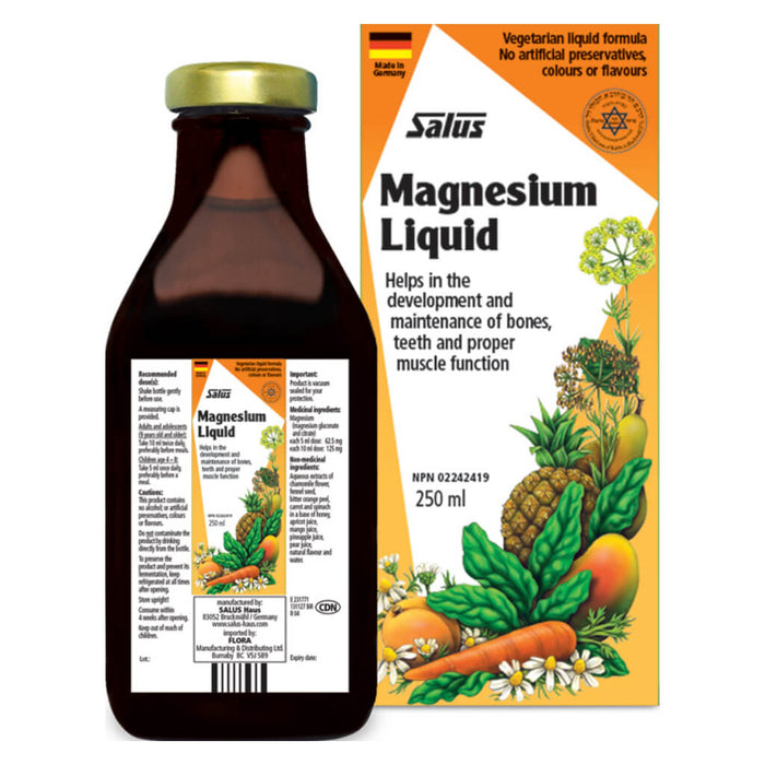 Box & Bottle of Magnesium Liquid 250 Milliliters