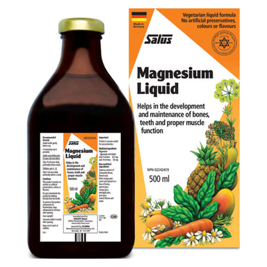 Box & Bottle of Magnesium Liquid 500 Milliliters