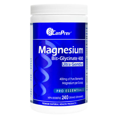 Container of Magnesium Bisglycinate 400 Ultra Gentle 240 Grams