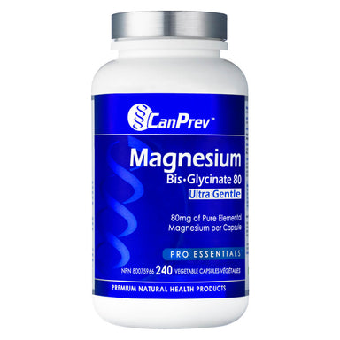 Bottle of Magnesium Bisglycinate 80 Ultra Gentle 240 Capsules