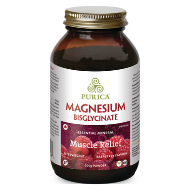 Bottle of Magnesium Bisglycinate Raspberry Flavour 300 Grams
