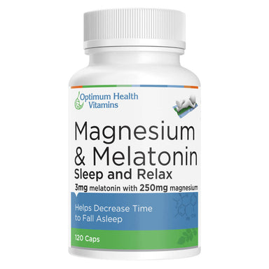 Bottle of Magnesium & Melatonin 120 Capsules