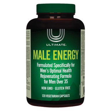 Bottle of Ultimate Male Energy 120 Vegetarian Capsules