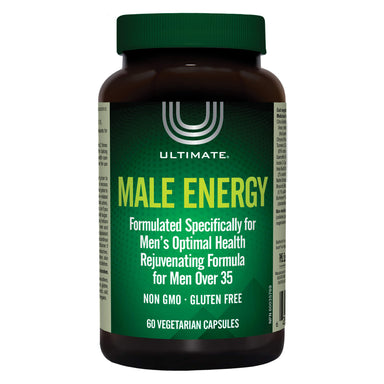 Bottle of Ultimate Male Energy 60 Vegetarian Capsules