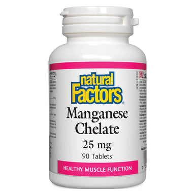 Bottle of Manganese Chelate 25 mg 90 Tablets