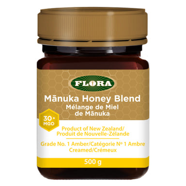 Jar of Flora Manuka Honey Blend (MGO 30+) 500 Grams