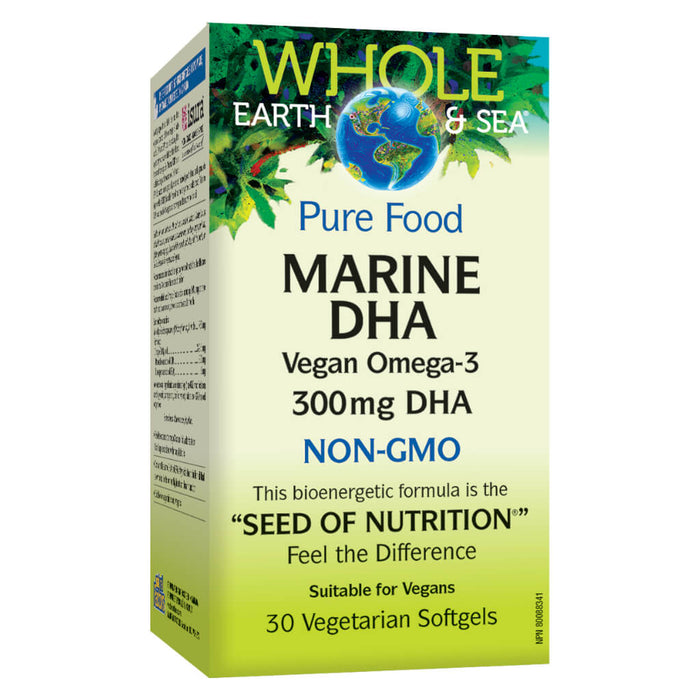 Box of Marine DHA Vegan Omega-3 30 Vegetarian Softgels
