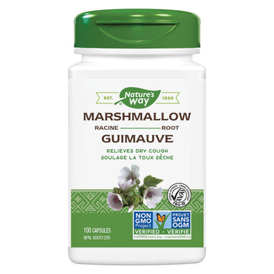 Bottle of Nature's Way Marshmallow Root 100 Capsules