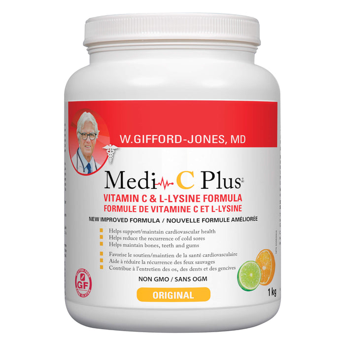 Container of W. Gifford-Jones Medi-C Plus with Magnesium Original Flavour 1 Kilogram