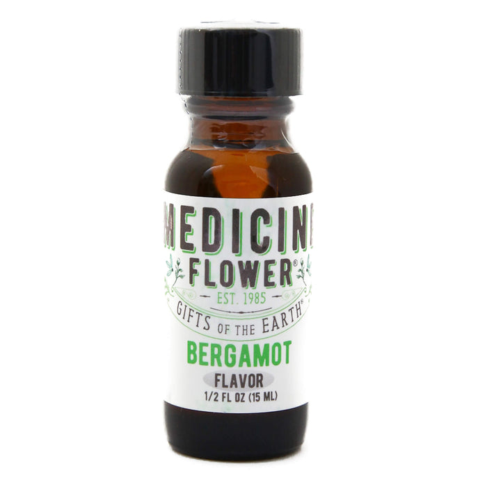 Bottle of Medicine Flower Flavouring Oil Bergamot 1/2 Fluid Ounce