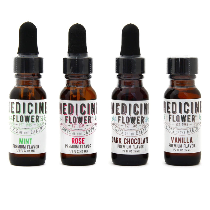 Bottles of Medicine Flower Flavouring Oils