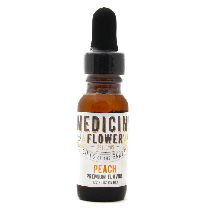 Dropper Bottle of Medicine Flower Flavouring Oil Peach 1/2 Fluid Ounce