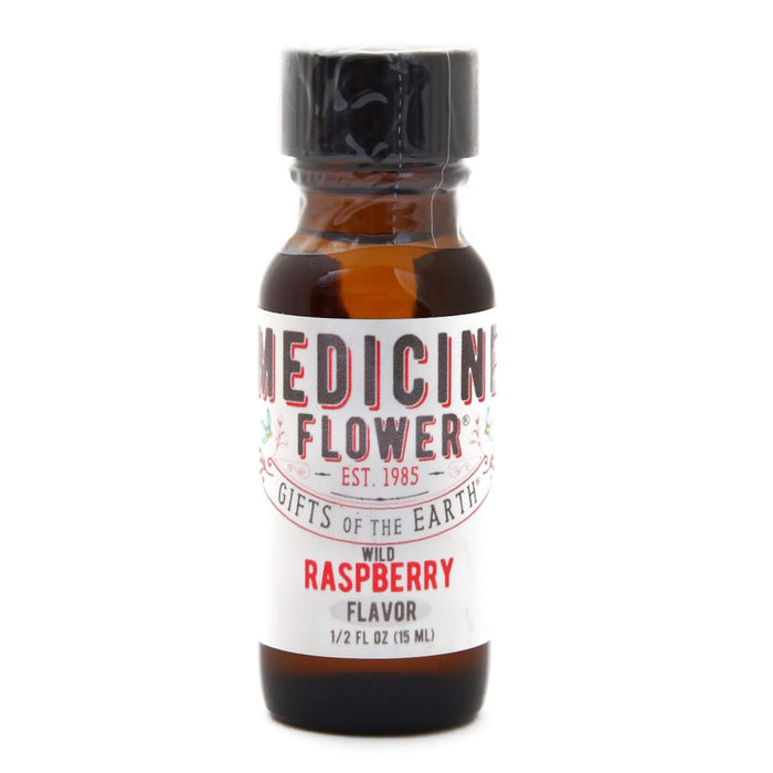 Bottle of Medicine Flower Flavouring Oil Wild Raspberry 1/2 Fluid Ounce