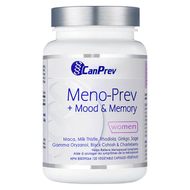 Bottle of CanPrev Meno-Prev 120 Capsules