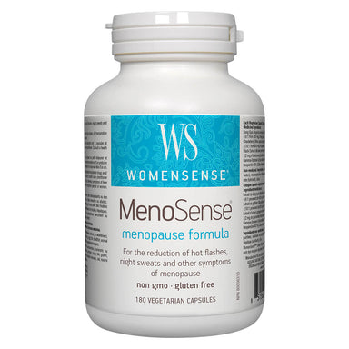 Bottle of MenoSense 180 Vegetarian Capsules