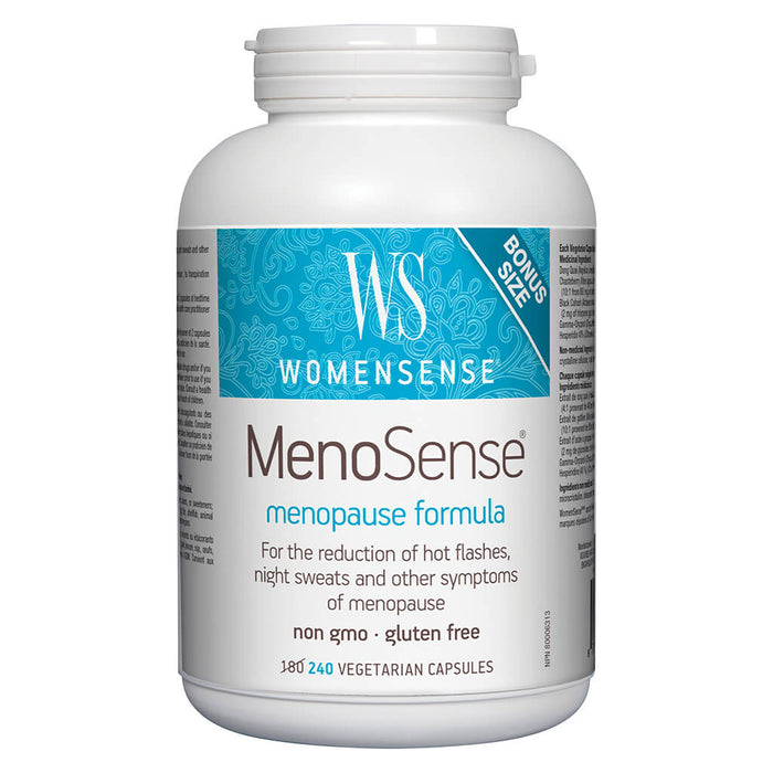 Bottle of MenoSense 240 Vegetarian Capsules