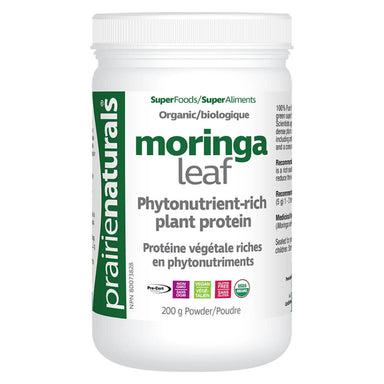 Container of Organic Moringa Leaf Powder 200 Grams