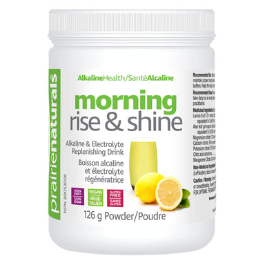 Tube of Prairie Naturals Morning Rise & Shine Drink 126 Grams