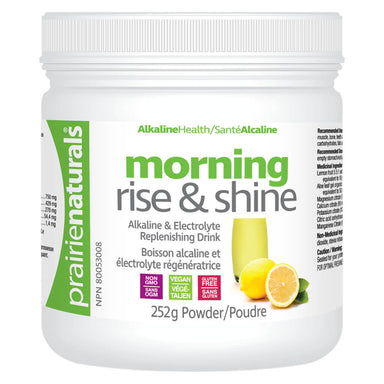 Container of Morning Rise & Shine Powder 252 Grams