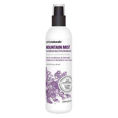 Spray Bottle of Prairie Naturals Mountain Mist Conditioning Spray 250 Milliliters