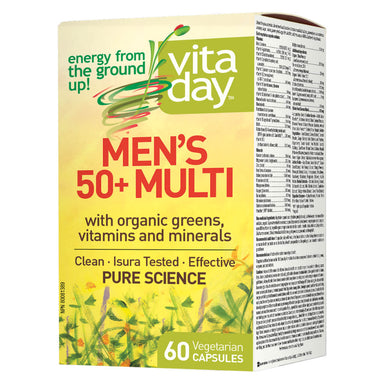Box of Men's 50+ Multi 60 Vegetarian Capsules