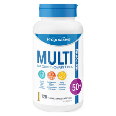 Bottle of Multi for Men 50+ 120 Vegetable Capsules
