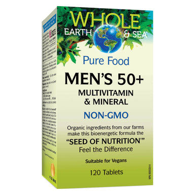 Box of Mens 50+ Multivitamin & Mineral 120 Tablets