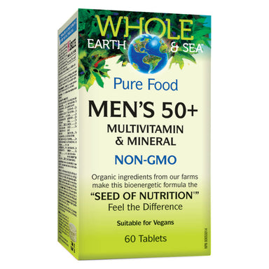 Box of Mens 50+ Multivitamin & Mineral 60 Tablets