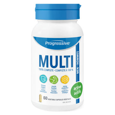 Bottle of Multi for Active Men 60 Vegetable Capsules