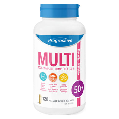 Bottle of Multi for Women 50+ 120 Vegetable Capsules
