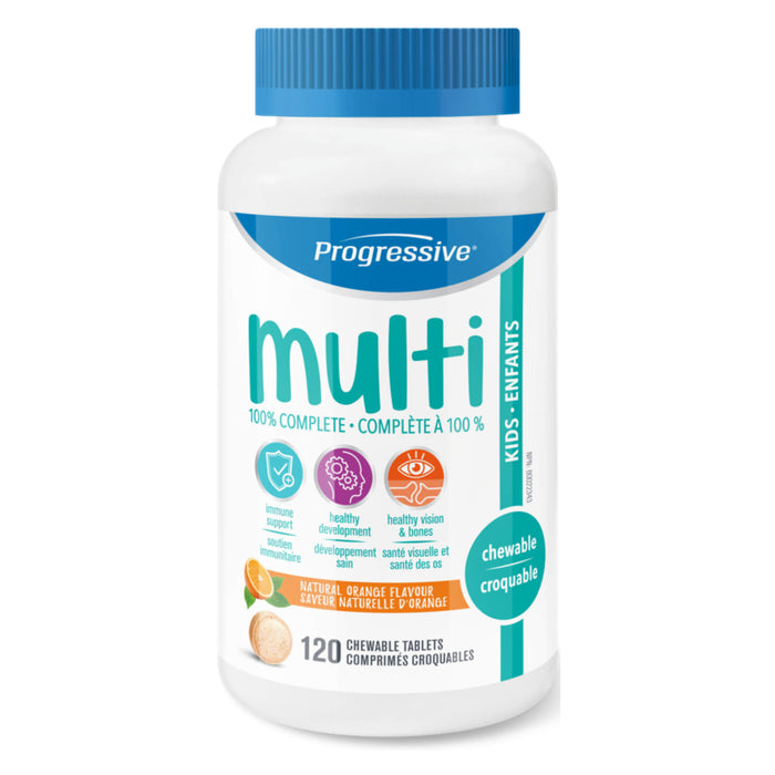 Bottle of Progressive Multivitamins for Kids 120 Chewable Tablets